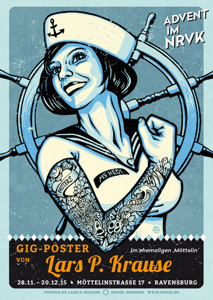 Gig-Poster von Lars P. Krause