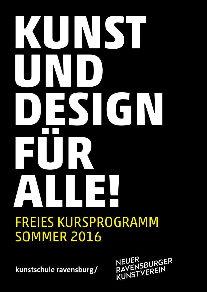 Kursprogramm: Kooperation Neuer Kunstverein Ravensburg und Freie Kunstschule Ravensburg