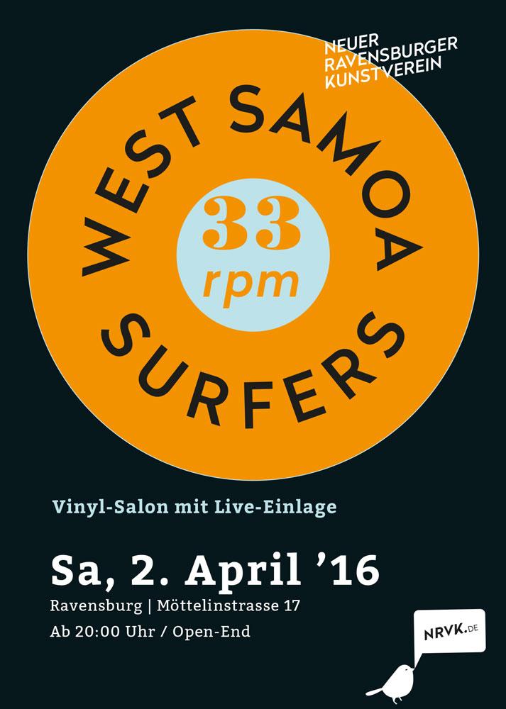 33 RPM mit den West Samoa Surfers und Dj Le Jaguar