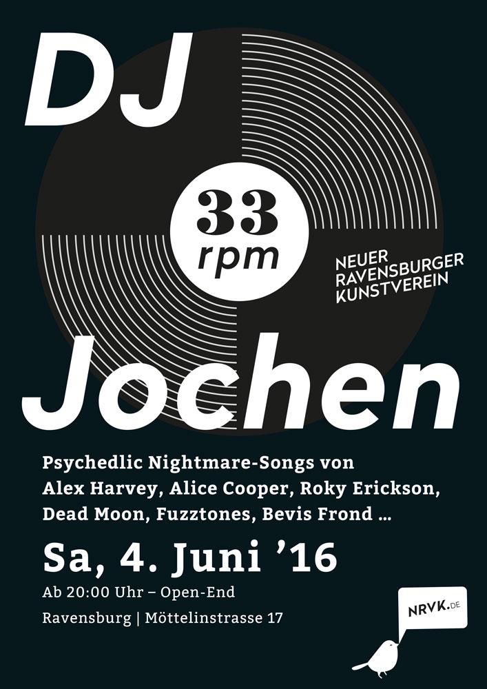 33 RPM Veranstaltung des Kunstverein Ravensburg mit DJ Jochen