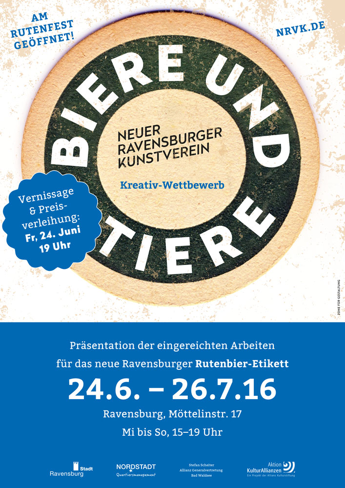 Aussstellung des neuen Ravensburger Kunstvereins: Biere und Tiere