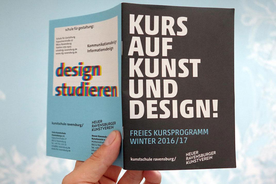 Kursprogramm 2016/2017: Kooperation Neuer Kunstverein Ravensburg und Freie Kunstschule Ravensburg