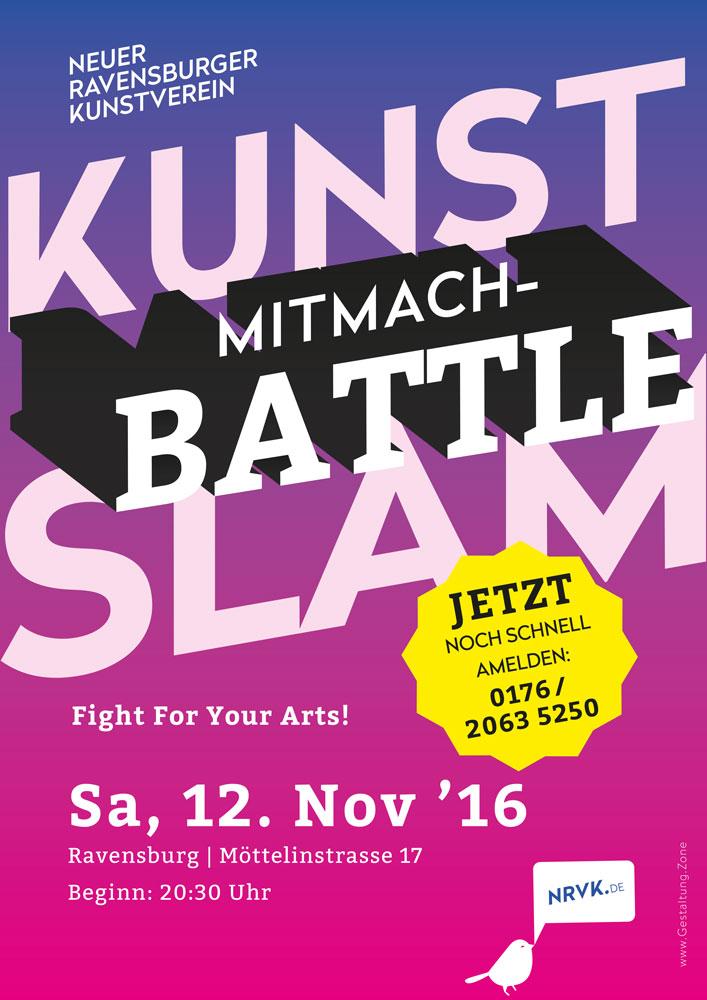 Plakat 1. Ravensburger Kunst-Slam