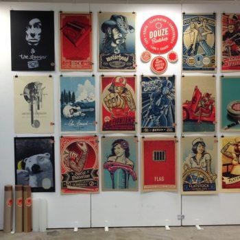 Siebdruckplakate im Grafikmarkt zum Advent im NRVK