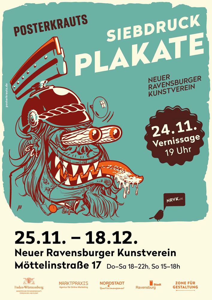 Die Posterkrauts bringen Konzertplakate ins Ravensburger Möttelin
