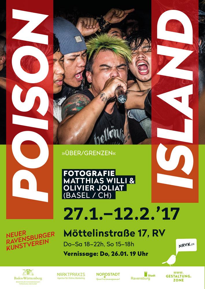 NRVK Ausstellung ab 26. Januar 2017: Poison Island - ÜBER/GRENZEN