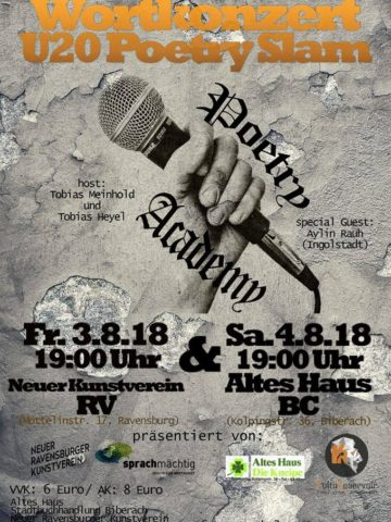 U20 Poetry Slam in Ravensburg