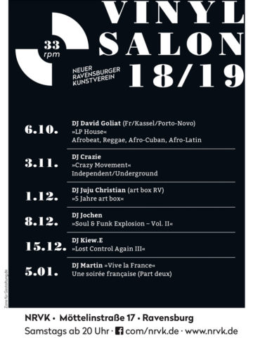 Flyer 33rpm Vinyl Salon im NRVK