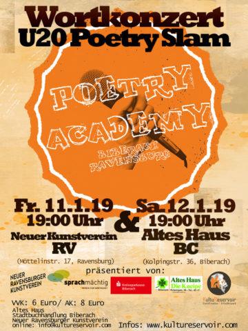 U20 Wortkonzert Poetry Slam im NRVK
