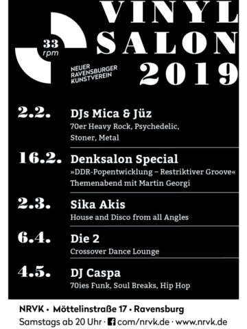 33 rpm Vinyl Salon im NRVK