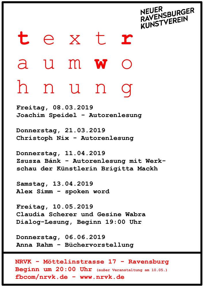 Plakat Textraumwohnung 01/2019