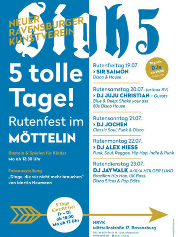 Rutenfest Programm 2019 des Neuen Ravensburger Kunstvereins