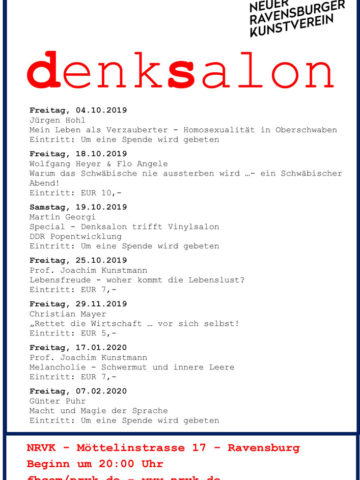 Flyer Denksalon 2019/2020