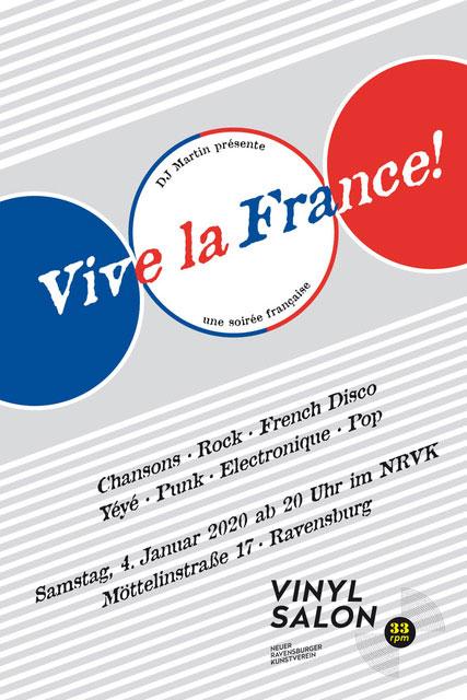 """33 rpm – Der Vinylsalon: DJ Martin mit """"Vive la France: Une soirée française (Part trois)"""""""