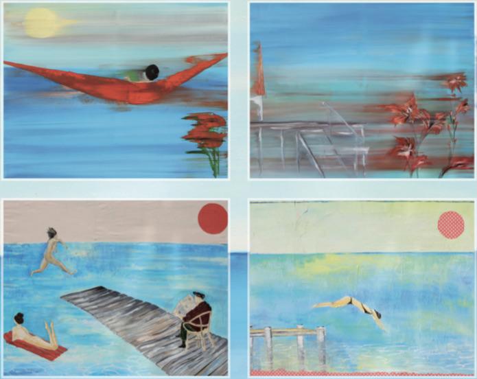 Ausstellung von Brigitta Mackh begleitend zur Lesung von Zsuzsa Bank